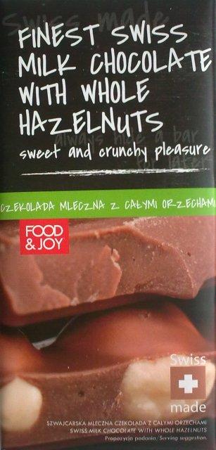 Finest Swis Milk Chocolate With Whole Hazelnuts - Food & Joy