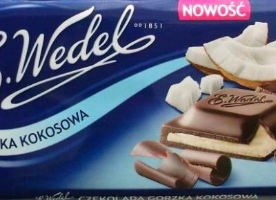 Czekolada nadziewana: Gorzka Kokosowa - Wedel