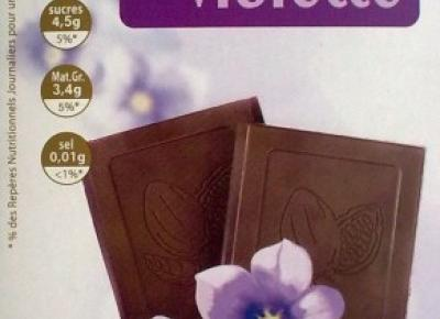 Czekolada z fiołkami Noir Aux Pepites Saveur Violette - Auchan