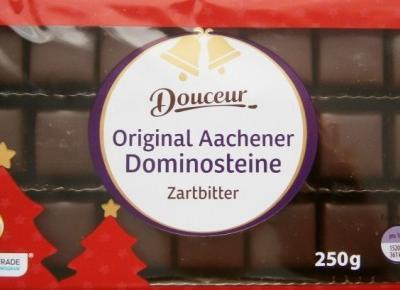 Marcepanowo-piernikowe domino w czekoladzie - Douceur