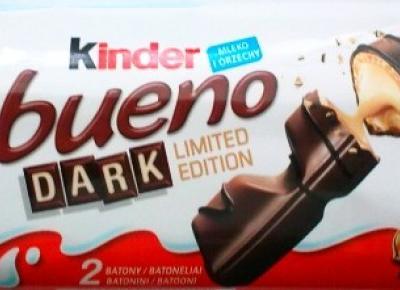 Wersje Dark powszechnie znanych słodyczy czekoladowych - czekolada deserowa