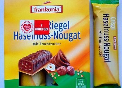 Batonik orzechowy z fruktozą - Frankonia