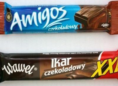 Czekoladowe batony Ikar i Amigos - Wawel