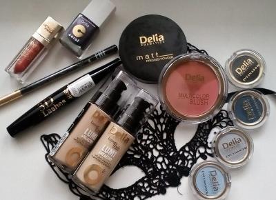 Cosmetics reviews : Kosmetyki kolorowe Delia Cosmetics - na co dzień i od święta