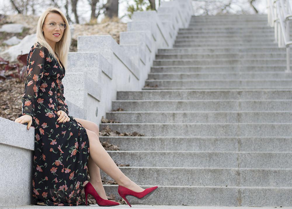Floral maxi dress - stylizacja » HappyTravelers » Blog modowy » Blog podróżniczy