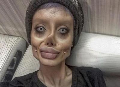 Szok! Zombie Angelina pokazała się bez makijażu - Super Express