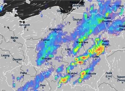 Pogoda. Groźny front nad Polską. Gwałtowne burze i ulewy - WP Wiadomości