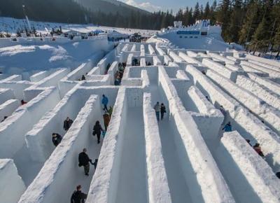 To największy labirynt śnieżny na świecie. Znajduje sięw Polsce!