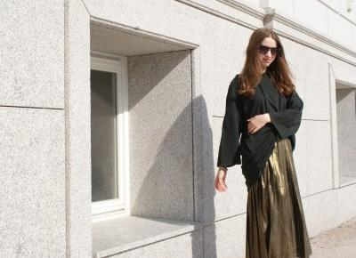 Jull: Pleated skirt x oversize hoodie