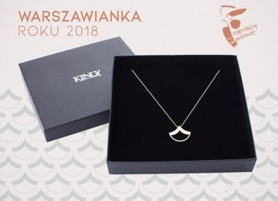 Złoty naszyjnik dla Warszawianki Roku | Blog o biżuterii by KINGY