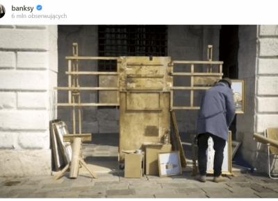 Banksy zaprezentował nową pracę w Wenecji. Pojawił się tam osobiście?