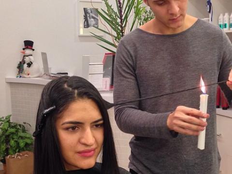 Ekstremalny sposób na rozdwojone końcówki. Kobiety traktują włosy zapaloną świeczką - Noizz