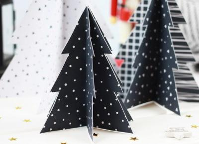 DIY: Choinki z papieru – prosta i efektowna dekoracja