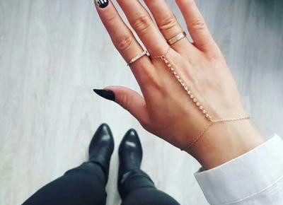 Czerń i biel na paznokciach - inspiracje
