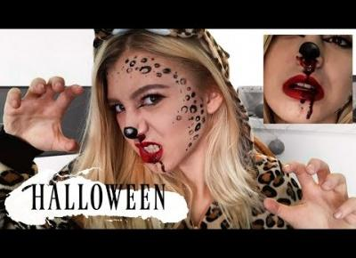 Halloween Makeup Tutorial - Creepy Panther 🎃🔪