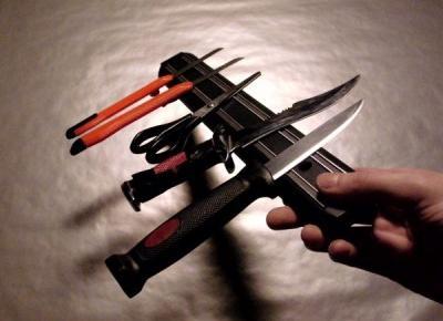 Magnetyczny uchwyt na noże - gadżet do kuchni, który pomoże zaoszczędzić miejsce :: KupPanGadżet