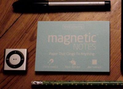 Karteczki samoprzylepne 2.0? Oto magnetic notes - gadżet do magnetycznych notatek :: KupPanGadżet