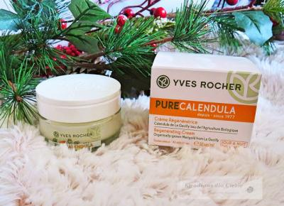 Yves Rocher Pure Calendula - Odżywczy krem na dzień i na noc z nagietkiem - Kwadrans dla Ciebie