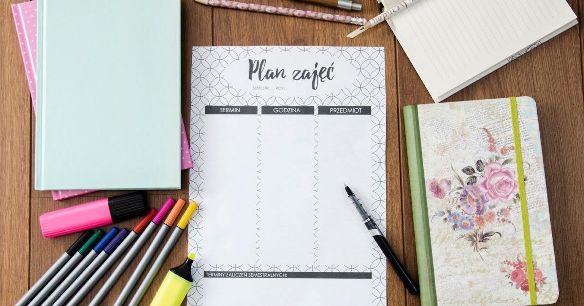 LadyAwa Blog: Plan zajęć dla uczących się zaocznie - do druku!