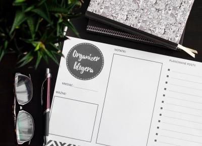 LadyAwa Blog: NOWY organizer blogera do druku!