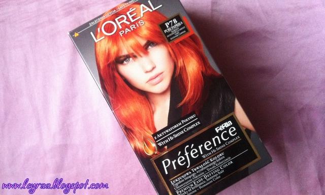 L'oreal Feria Preference P78 Pure Paprika Bardzo Intensywna Miedź  | Blog Fashion and Beauty - Personal by Leyraa