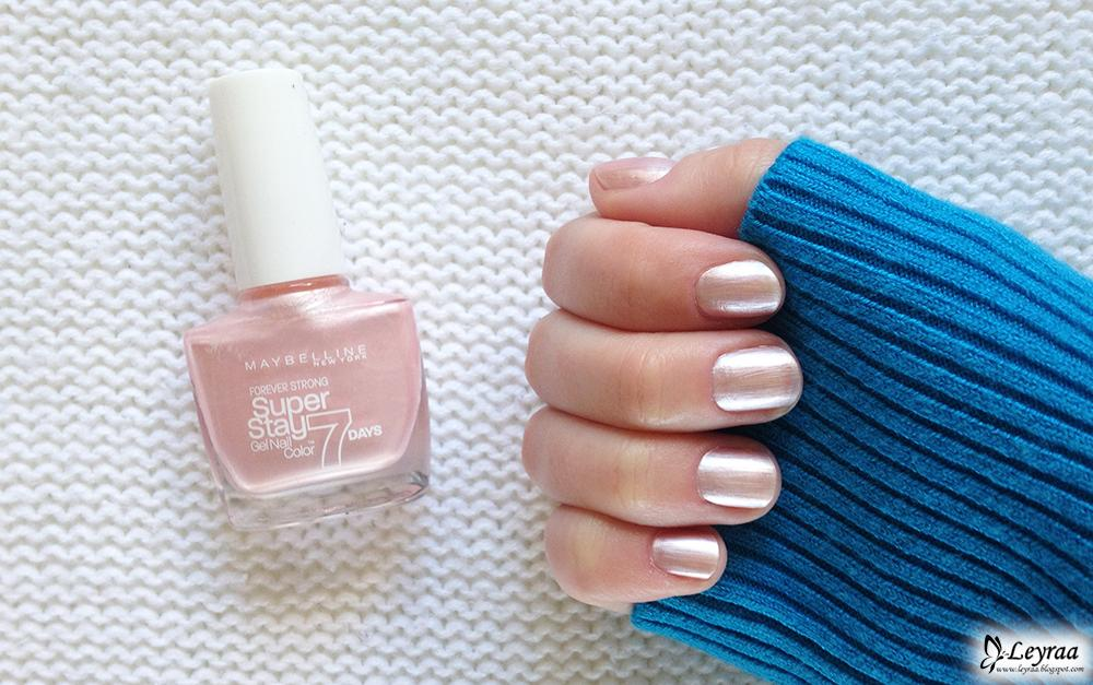 Maybelline Super Stay 7 Days Lakier do paznokci 78 Porcelain | Blog Fashion and Beauty - Personal by Leyraa