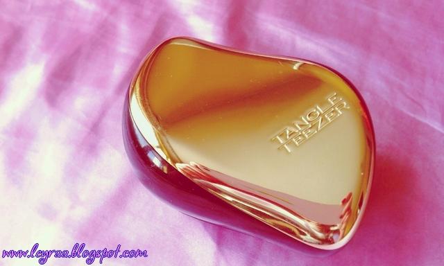Tangle Teezer Compact Styler Gold Rush - recenzja i porównania | Blog Fashion and Beauty - Personal by Leyraa