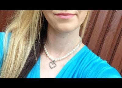 DIY naszyjnik z perełkami i zawieszką sercem 🖤