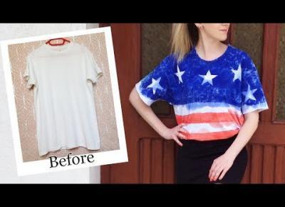 DIY koszulka motyw flaga amerykańska 🇺🇸