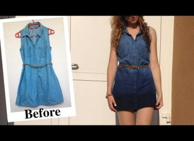 DIY sukienka jeansowa ombre 👗