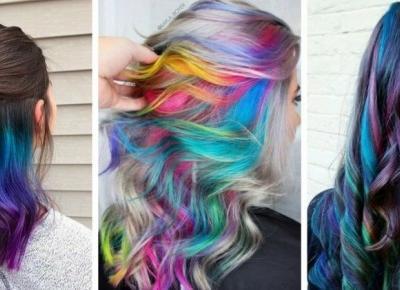 Kolorowe włosy na wakacje/ INSPIRACJE
