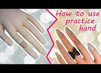Akrylowe paznokcie na ręce do ćwiczeń
