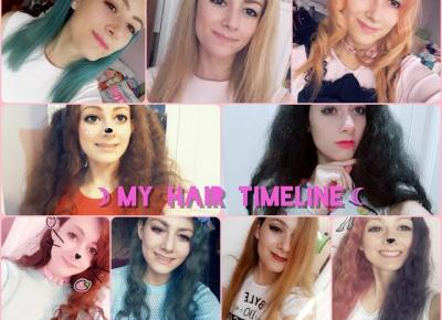 ☽My Hair Timeline☾  How I destroyed my hair - story