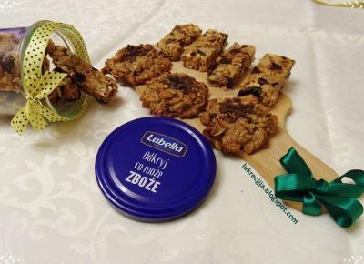 Po prostu Lukrecjjja: Batoniki zbożowe bez pieczenia oraz ciasteczka z nowych płatków zbożowych Lubella