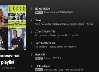 HIT! Użytkownicy Spotify utworzyli  playlisty z tytułami, które kojarzą się z epidemią!