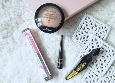 WET N WILD Make Up | Puder Photo Focus, Lash Renegade Mascara, Gel Lip Liner, Liquid Eyeliner - Malinowe C.