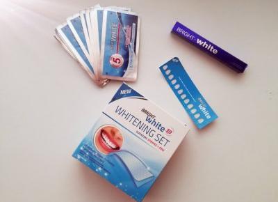 Wybielanie zębów paskami Bright White + Konkurs!!! - Malinowe C.