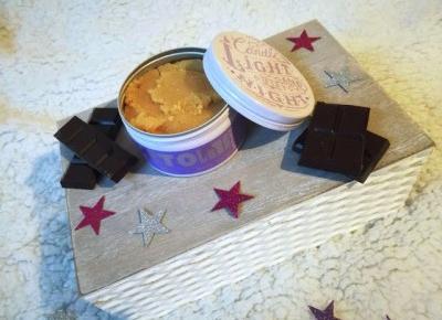 Peeling cukrowy o zapachu ciemnej czekolady OH!TOMI - Malinowe C.