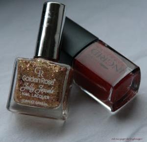 Od niczego do pięknego ! : Recenzja- lakier do paznokci INGRID estetic nr 283   Golden Rose Jolly Jewels nr.103