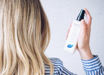 Mar  Lena: Jak prawidłowo suszyć i modelować długie włosy? Termoochronny spray odbudowujący Phyto  |  topestetic