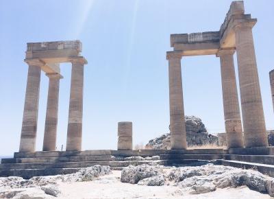 Mar  Lena: Lindos - najpiękniejsze miasto na wyspie Rodos