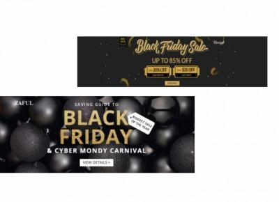Black Friday ! Internetowa rozpiska promocji Zaful & Rosegal - Mariem