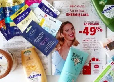 Co kupić w Rossmannie na promocji -49% na pielęgnację ciała i włosów?