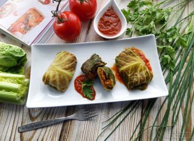 Gołąbki warzywne z sosem pomidorowym (dieta dr Dąbrowskiej) – przepis krok po kroku
