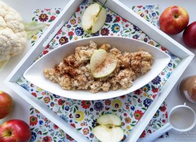 Ryż z kalafiora zapiekany z jabłkami (dieta dr Dąbrowskiej) - przepis krok po kroku