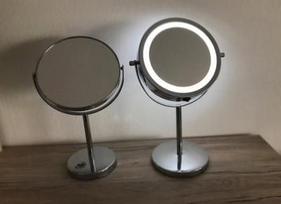 Lustro dwustronne podświetlane Smukee czy lustro klasyczne Delco?Porównanie luster z biedronki | Witaj w moim swiecie