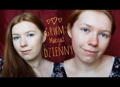 GRWM: Dzienny makijaż do szkoły i pracy| MAKIJAŻ OCZAMI Z OPADAJĄCYMI POWIEKAMI