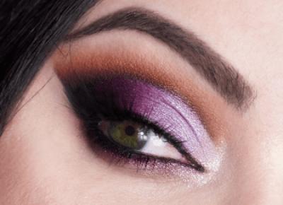 Makijaż na Sylwestra / Fioletowo-Brązowe Cut Crease | Miss Lilith