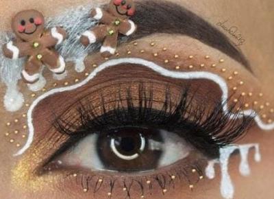 Świąteczne make up z Pinterest