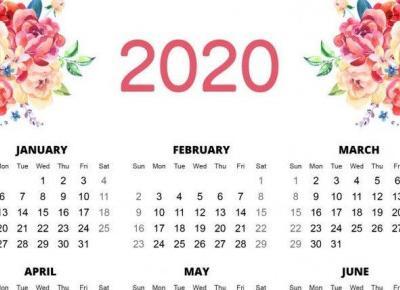 Kalendarze na 2020